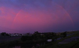 A Rainbow in the Pink Sky shorebread ocmd ocmd2016 rainbowhellip