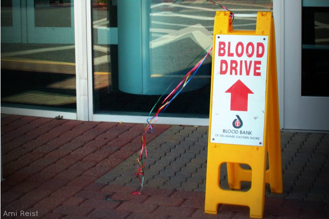 Ocean City MD Beach Blanket Blood Drive Ami Reist