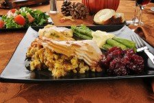 Thanksgiving Dinner Turkey Platter
