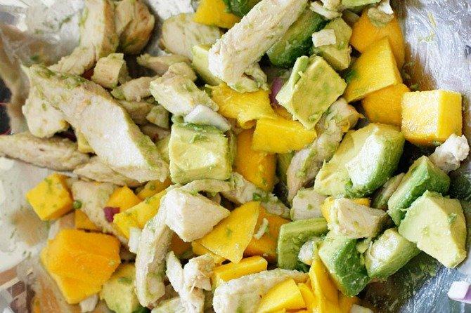 California Grilled Chicken Avocado and Mango Salad | ShoreBread