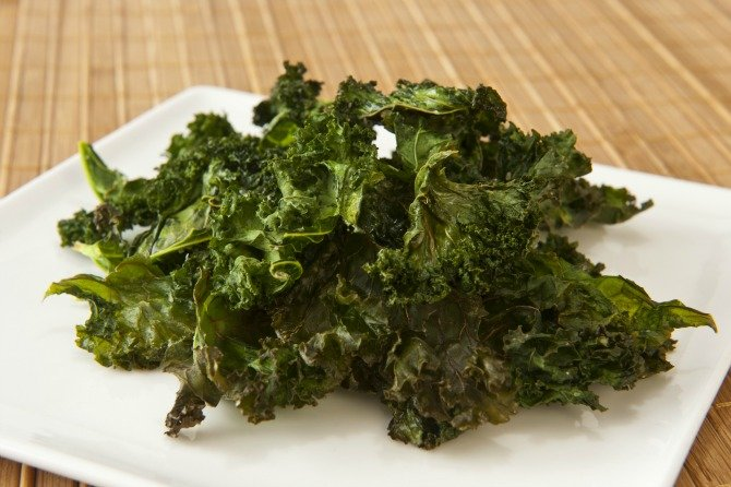 Baked Roasted Kale Chips with Sea Salt Recipe