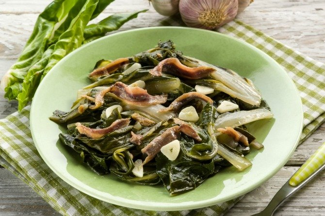 Swiss chard with bacon recipe - healthy dinner