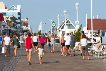 Boardwalk facing north by tonys pizza