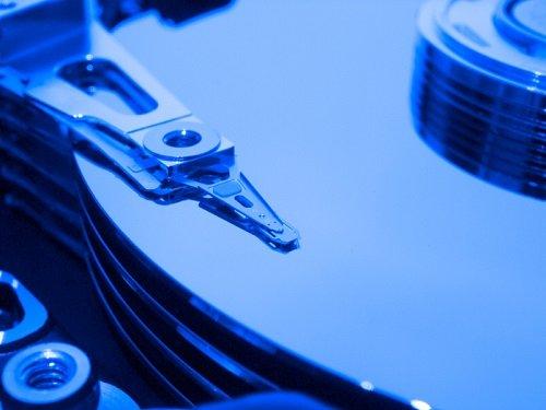 interier of plattered hard drive