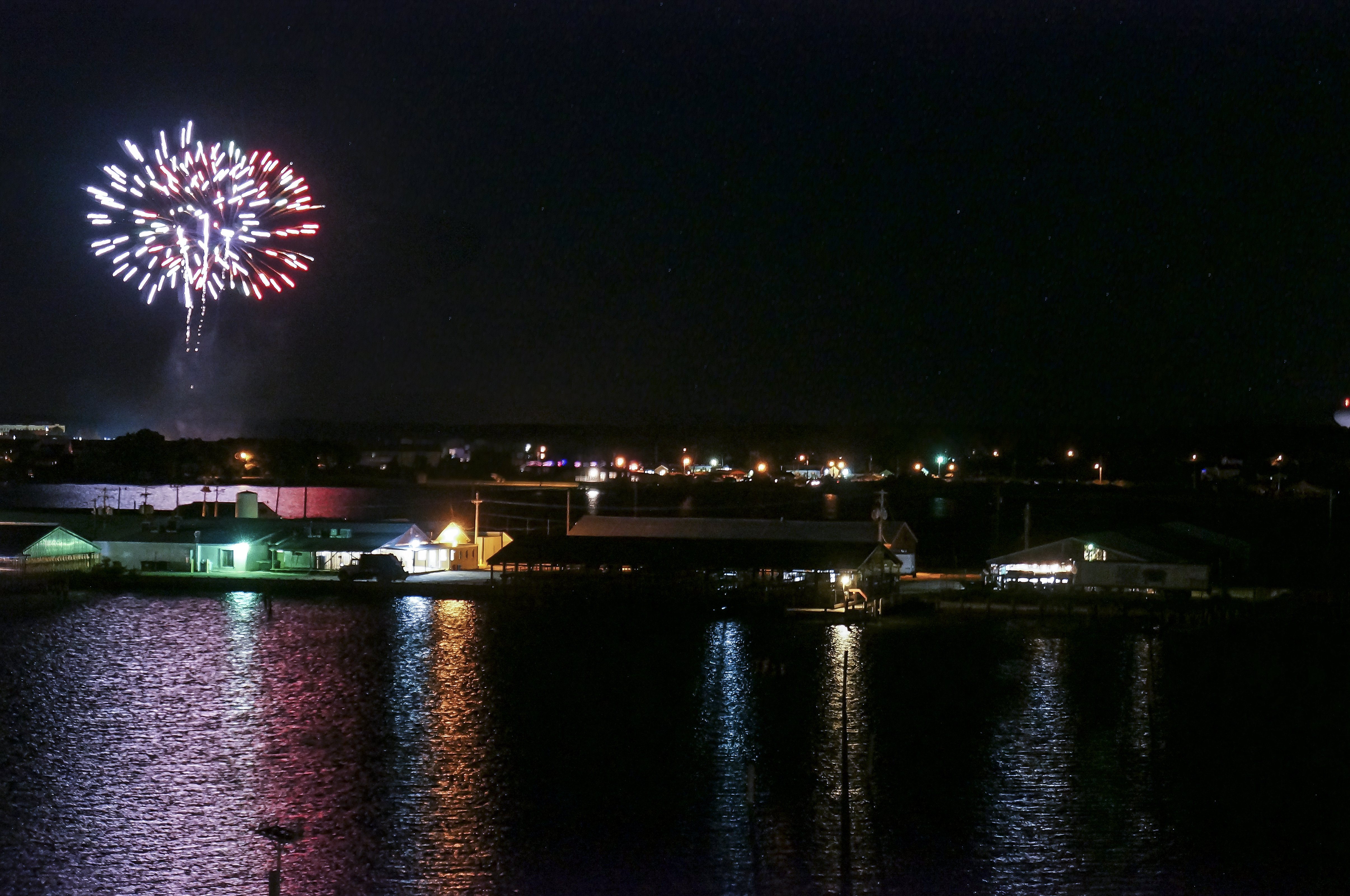 Fireworks over Water in Crisfield