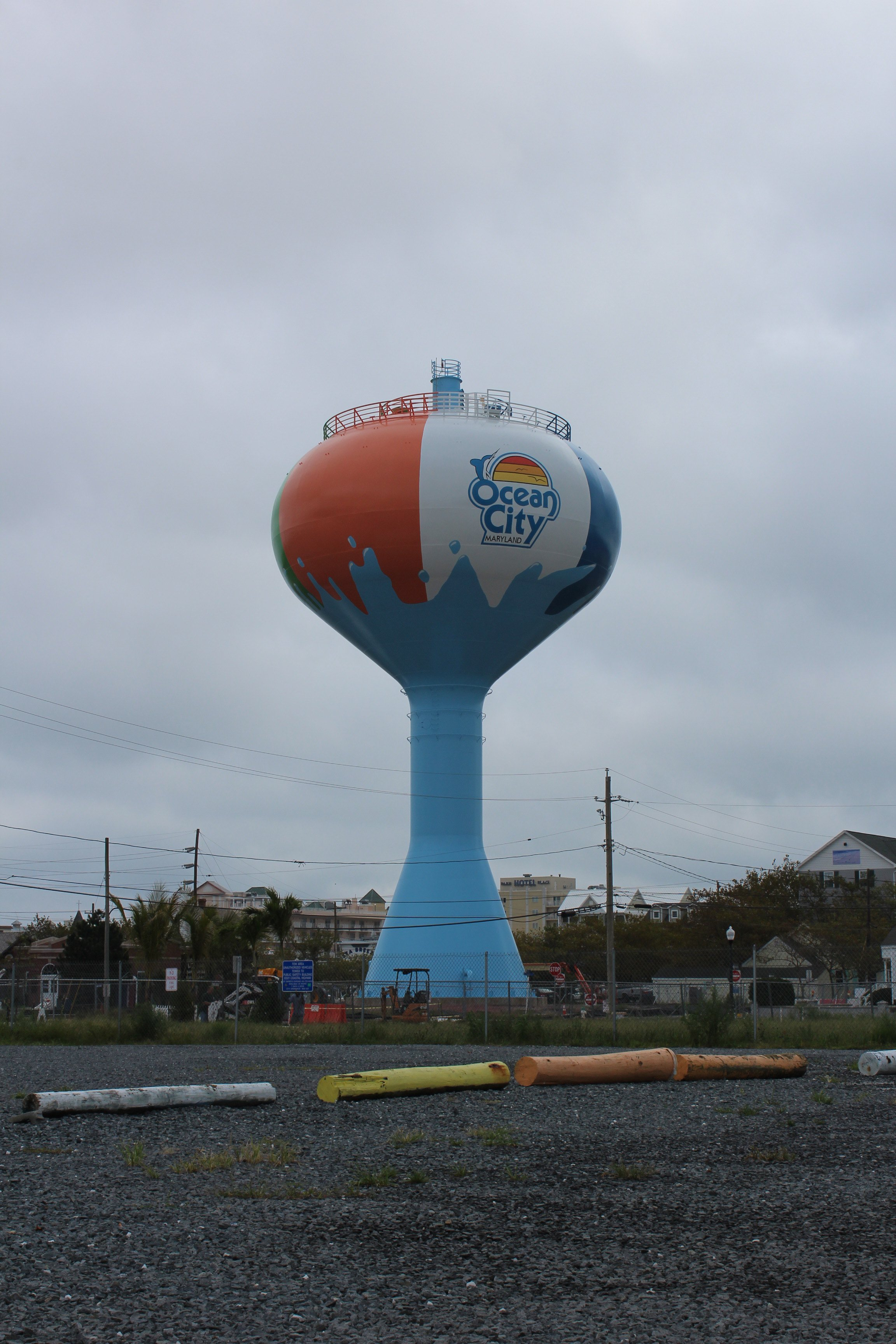 ocean city u0026 39 s new beach ball water tower