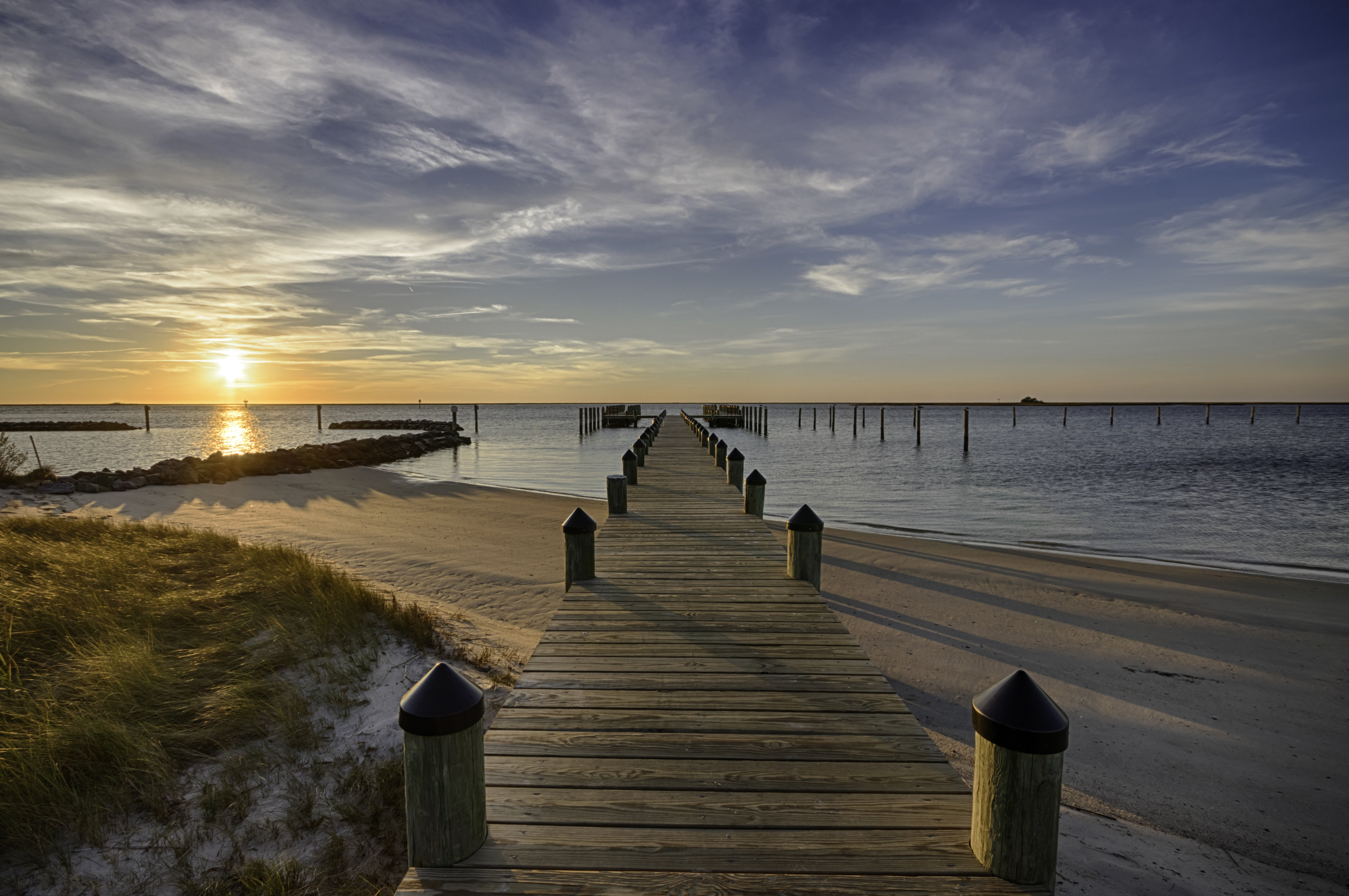 pier beach jetty Crisfield MD beach