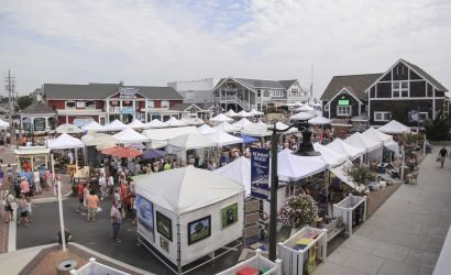 Bethany Beach Arts Festival Tents Near Boardwalk
