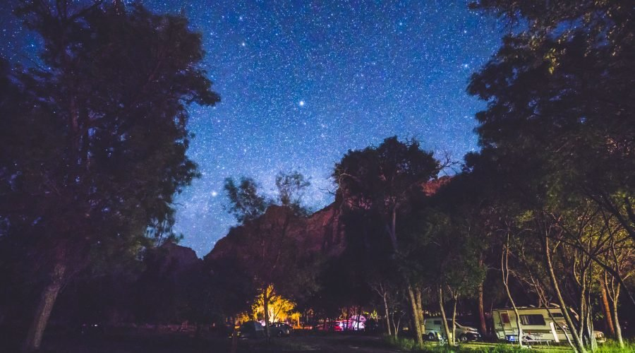 Starry Night Sky at Campground