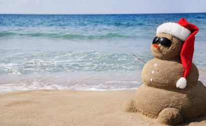Sand Snowman for Christmas in July