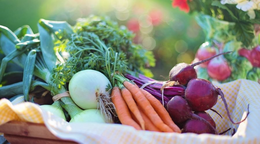 Carrots, Beets and vegetables in basket