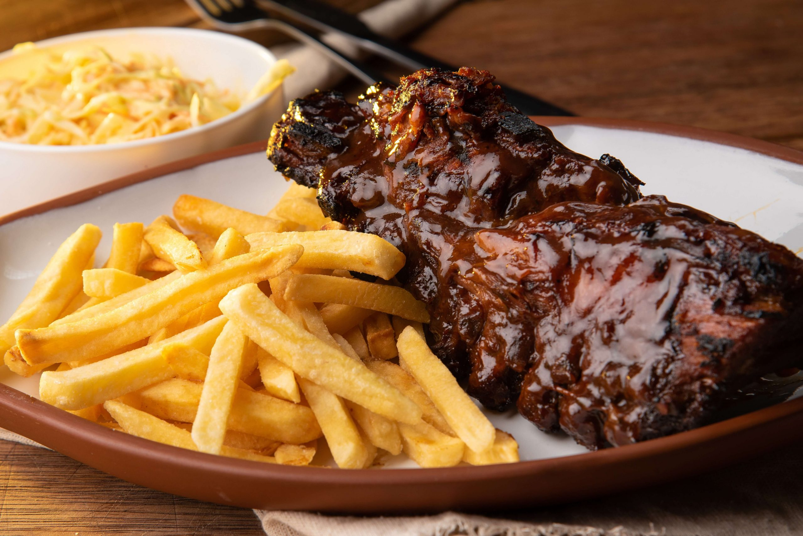 ribs and fries